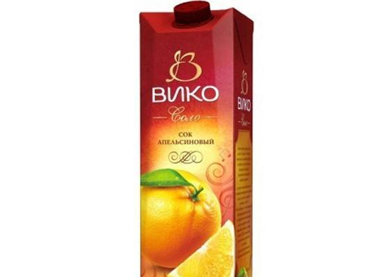 Сок Вико Апельсин 1л