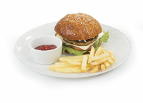 Чикен-бургер+картофель фри
