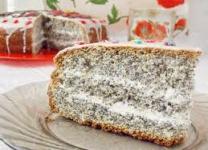 Маково сметанный торт